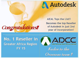 EMIA (Europe, Middle East, India, Africa) Autodesk's Best Reseller (2008)