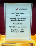 Mathworks India Driving significant Adoption Award for 2014